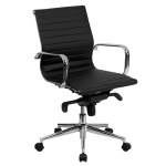 BTOD Mid Back Leather Conference Chair Available In Black, White, and Brown
