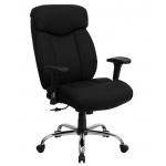 "BTOD Big And Tall Fabric Office Chair 22"" Wide Seat Rated For 350 lbs."