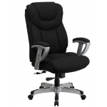 "BTOD Big And Tall Fabric Office Chair 22.75"" Seat Width Rated For 400 lbs."