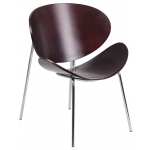 BTOD Bentwood Modern Guest Chair - 2 Wood Color Options