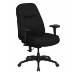 "BTOD Big And Tall Fabric Office Chair 20"" Wide Seat Rated For 400 lbs."