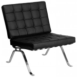 BTOD 801 Series Tufted Leather Lounge Chair Available In Black Or White