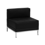 BTOD Imagination Series Middle Section Black Leather Lounge Chair