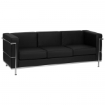 BTOD Regal Series Contemporary Leather Sofa Available In Black or White