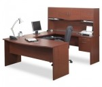Bestar Harmony U Shaped Office Desk With Hutch