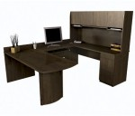 Bestar Executive U Shaped Computer Work Station With Hutch