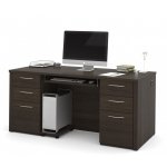 Bestar Embassy Executive Office Desk w/ Pedestal Files (BF-60850)