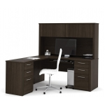 Bestar Embassy L Shaped Office Desk with Hutch (BF-60853)