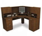 Bestar Elite Corner Computer Work Station with Hutch