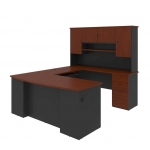 Bestar Manhattan U-Shaped Office Workstation w/ Hutch