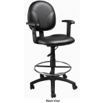 "Boss Multi Function Drafting Stool with Footring - Seat Height 28"" - 33"" (BS-B1691)"