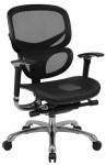 Boss Contemporary Ergonomic Office Chair Mesh Seat/Mesh Back w/ Optional Headrest ( BS-B6888-BK)