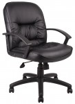 Boss Mid Back Leather Task Chair (BS-B7306)