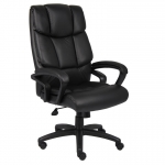 Boss Leather High Back Desk Chair w/ Waterfall Seat Design (BS-B8701)