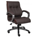 Boss LeatherPlus Conference Chair Padded Arm Rests (BS-B8776)