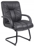Boss Mid Back Italian Leather Guest Chair (BS-B9309)