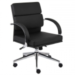 Boss Segmented Mid Back Modern Office Chair With Metal Chrome Plated 27� Base And Arms (BS-B9406)