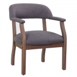 Boss Captain's Guest & Side Arm Chair with Traditional Mahogany Wood Finish (BS-B9540)