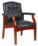 Boss Classic Leather Guest Chair w/ Tufted Styling (BS-B969)
