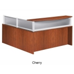 Boss Plexiglass Reception Station Available In Mahogany And Cherry (BS-N269/N280G)