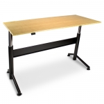 "30"" x 60"" VertDesk� Bamboo Electric Sit Stand Desk � 28.5� to 46.5� Adjustment Range � 250 lbs Capacity"