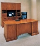 DMI Belmont Series Cherry Veneer Executive Office Desk w/ Locking Pedestals (DMI-713X-36)