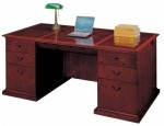 DMI Del Mar Series Sedona Cherry Veneer Executive Office Desk w/ Keyboard Tray (DMI-7302-36)