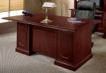 "DMI Andover Series 72"" Double Pedestal Laminate Executive Desk w/ Sherwood Mahogany Finish (DMI-7462-36)"