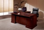 DMI Andover Series Sherwood Mahogany Laminate Finish L-Shaped Executive Office Desk w/ Single Pedestal (DMI-7462-3X)