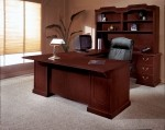 DMI Andover Series Sherwood Laminate Mahogany Finish U-Shaped Executive Desk w/ Credenza *Hutch Not Included*  (DMI-7462-7X)