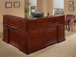 DMI Keswick Wood Veneer Series L Shaped Receptionist Desk w/ Optional Left Or Right Return (DMI-79906X)