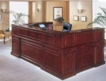 DMI Keswick Wood Veneer Series U Shape Reception Desk w/ Optional Left Or Right Return (DMI-7990XX)