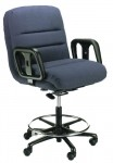 ERA Hercules 2500DS Big and Tall Intensive Use Drafting Stool 500 lbs Rating Seat Height 22.5-30.5""