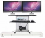 Ergotech iMac Free Stand Single or Dual Monitor Adjustable Height Workstation