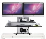 Ergotech One Touch Ultra iMac Dual Monitor Electric Height Adjustable Workstation