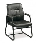 Eurotech Ace Leather Mid Back Guest Chair (EUR-564G)