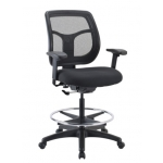 "Eurotech Apollo Drafting Chair w/ Foot Ring and Arms Seat Height Range 18""-26.5"" (EUR-DFT9800)"