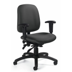 "Global Goal Low Back Multi Tilter Office Chair w/ Height Adjustable ""T"" Arms (GLO-2237-3)"
