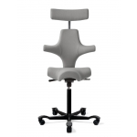 H�G Capisco 8107 Stool w/ Back Support And Headrest Saddle or Flat Seat