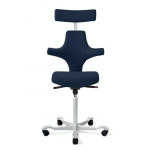 H�G Capisco 8127 Flat Seat Stool w/ Back Support And Headrest