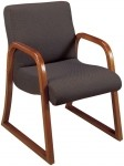 HPFI Scoop Series Sled Base Arm Chair 60+ Fabric Options Available (HPFI-1004)