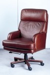 HPFI Leaders Series Executive Office Chair 60+ Fabric/Leather Options Wood Base