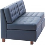 HPFI Himalaya Series Two Seat Armless Love Seat 60+ Fabric/Leather Options