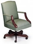 HPFI Martha Washington Executive Swivel Office Chair 60+ Fabric/Leather Options