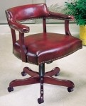 HPFI Traditional Management Swivel Office Chair Brass Nail Head Trim 60+ Fabric Options (HPFI-4017)