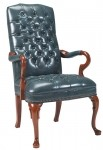 HPFI Traditional Reception Series Goose Neck Arm Chair 60+ Fabric Options