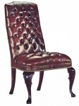 HPFI Traditional Reception Series Armless Side Chair 60+ Fabric Options Available (HPFI-4054)