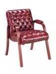 HPFI Scoop Series Traditional Reception Chair w/ Padded Arms 60+ Fabric Options