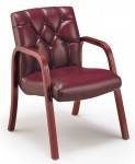 HPFI Quick Silver Series Traditional Reception Guest Chair Tufted Back 60+ Fabric Options (HPFI-4833)