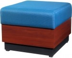 HPFI 7300 Modular Series One Seat Reception Bench 60+ Fabric Options Available (HPFI-7301)